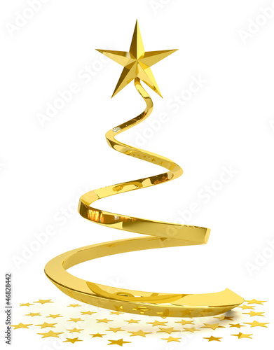 "Stylized Christmas tree ""C"""