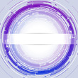 Round Abstract Background Light Blue Violet EPS10