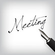 Meeting Text Füllfederhalter