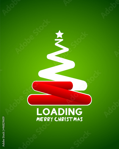 christmas tree web loader waiting concept