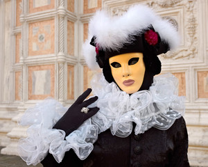 Full decorative carnival costume in Venice.