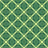 Seamless abstract pattern with circles and rhombuses poster
