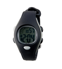 Modern design of the digital panel wristwatch