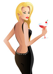 beautiful woman, blonde, girl, person, hair, smile, pearls