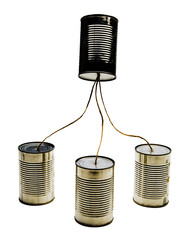 Four tin can phones