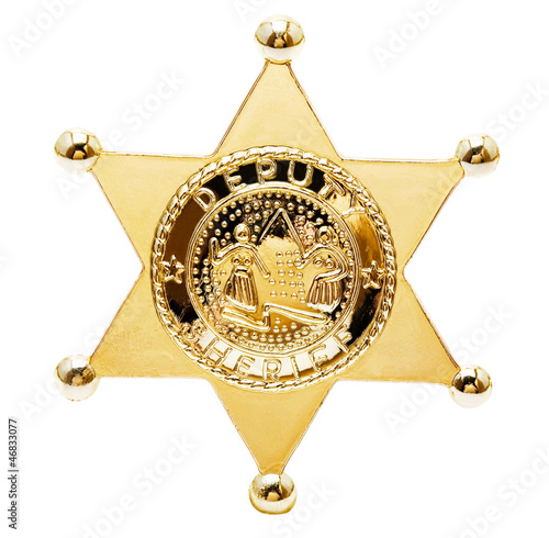Close-up of a sheriff star