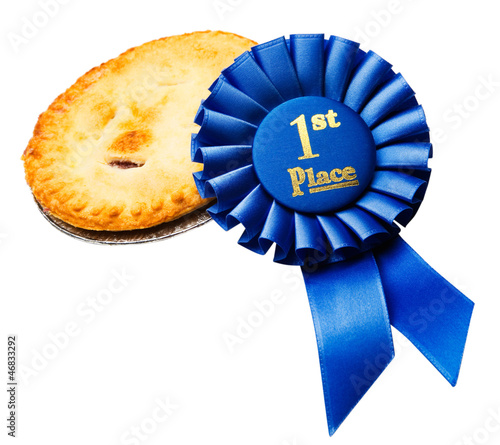 Pie with winning badge