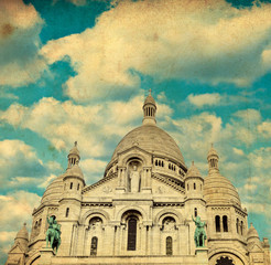 Vintage image of Sacre coeur Cathedral