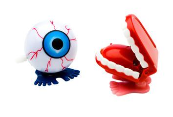 Dentures and eye model
