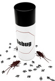 Cockroaches and ants near insect repellent