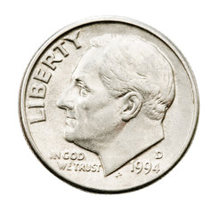 Human representation on us coin