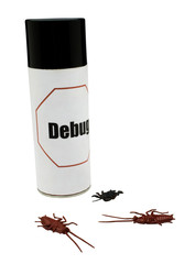 Dead cockroaches near insect repellent