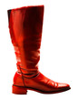 Boot of red color