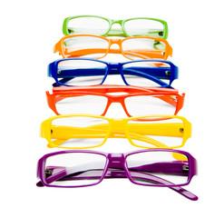 Row of eyeglasses