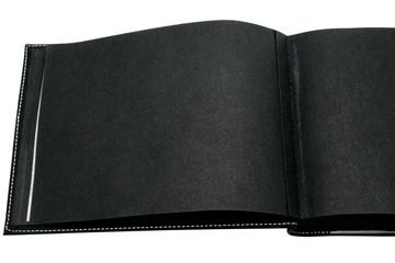Open blank photo album