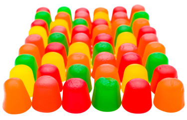 Multi-colored candies