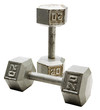 Close-up of pair of dumbbell