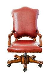 vintage style red leather chair