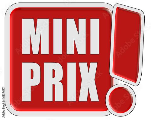 !-Schild rot quad MINI PRIX