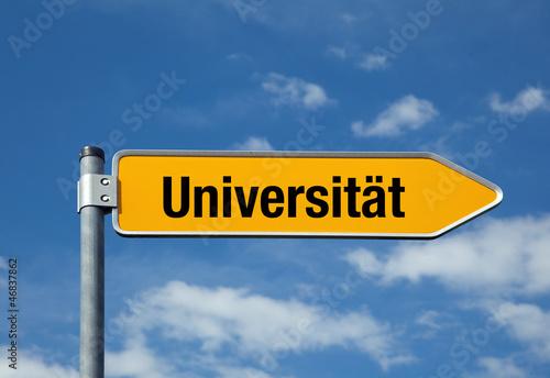 Poster Pfeil mit blauem Himmel UNIVERSITÄT