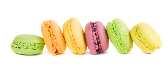 row of macaroons