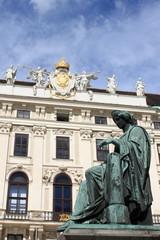 Hofburg Palace courtyard in Vienna, Austria