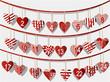 Christmas calendar with sweet handcraft hearts
