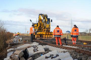 Gleisbauarbeiten
