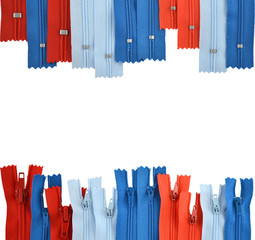 background consisting of zippers for clothes