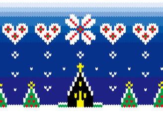 クリスマスのノルディック柄連続模様