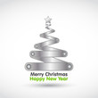 new year christmas tree vector illustration