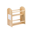 An empty wooden shelf for put bottle or kitchen ware into it