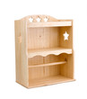 empty wooden shelf for put bottle or kitchen ware into it