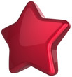 Red star blank award decoration. Prestige leadership