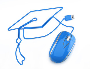 Online education, or online degree concept