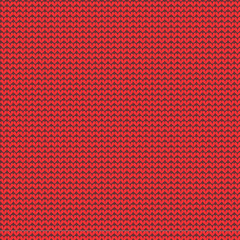 Christmas red knitted background, seamless pattern included
