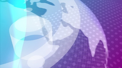 Purple and White Globe Abstract Video Background