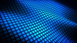 Waving Grid Blue Abstract Video Background