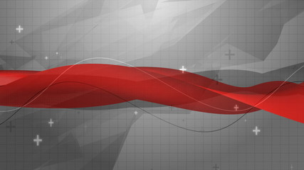 Red Waves Technology Video Background