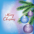 Bright New year and Christmas card. Christmas background