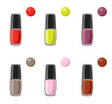 Nail polish icon set