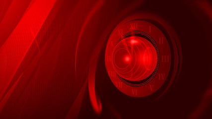 Roman Clock Abstract Red Video Background
