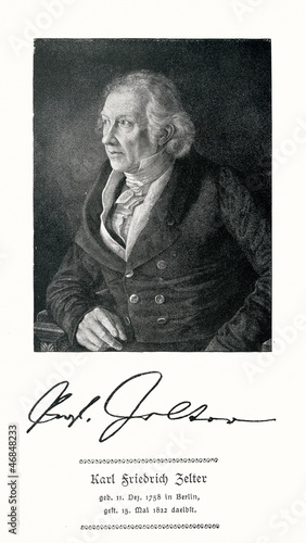 Portrait of german composer Zelter