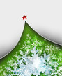 Beautiful snowflake Christmas background with New Year Tree