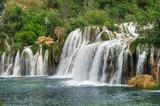Fototapety Krka river waterfalls, Krka National Park, Roski Slap, Croatia