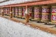 Tibetische Gebetsmühlen in Ladakh, Indien