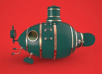 ancient green submarine