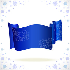 big blue cristmas tape with freezing pattern