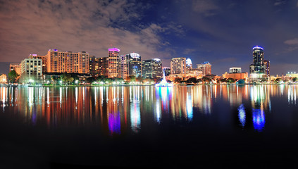 Orlando night panorama
