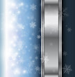 Winter christmas background blue with snowflakes